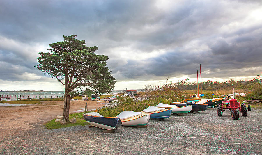 Barnstable Yacht Club Seasons Over by Charles Harden