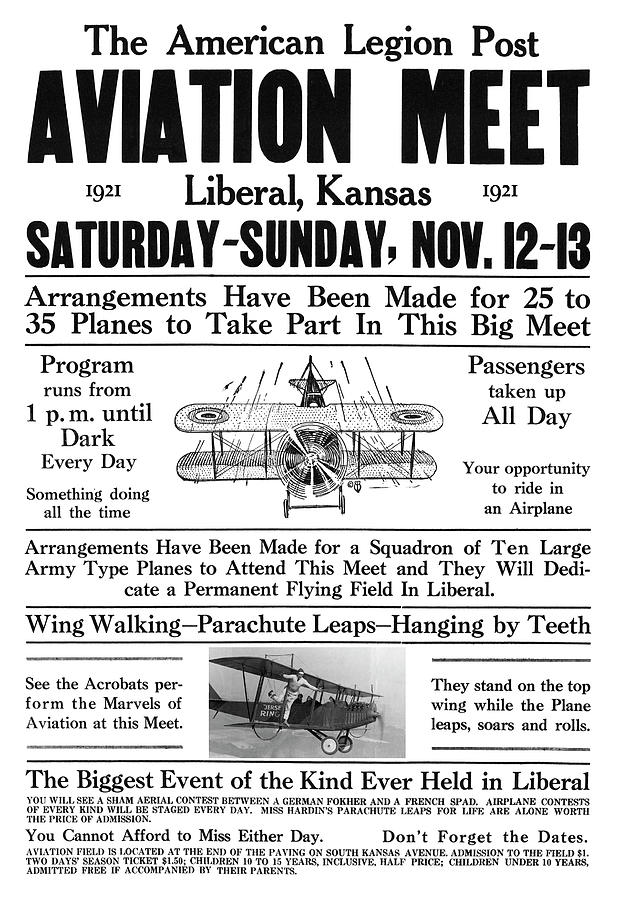 BARNSTORMING and AVIATION MEET - KANSAS 1921 by Daniel Hagerman