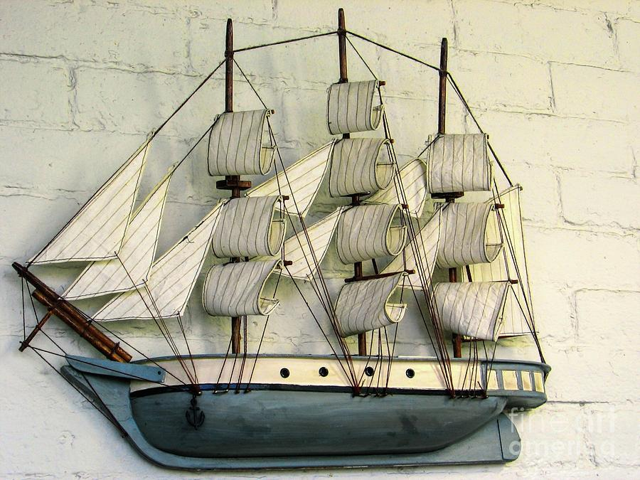 Barque Tall Ship Model by Rose Santuci-Sofranko