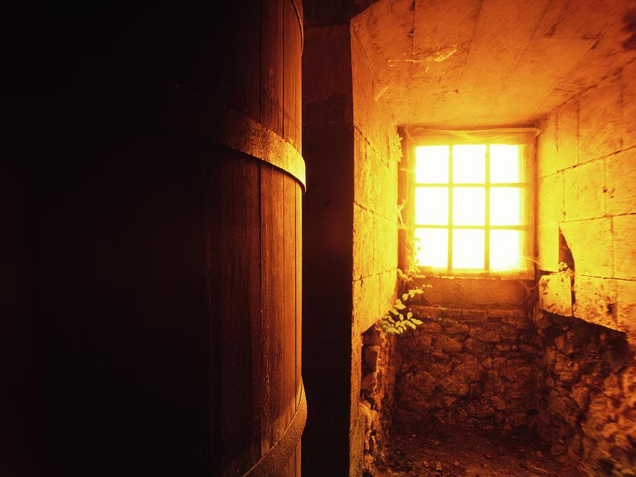 Barrel At An Old Vine Cellar Photograph by Kontrast-fotodesign