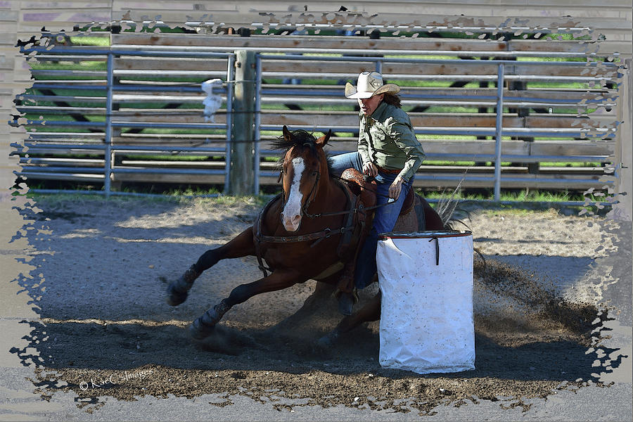 Barrel Racer in Evening Ride by Kae Cheatham
