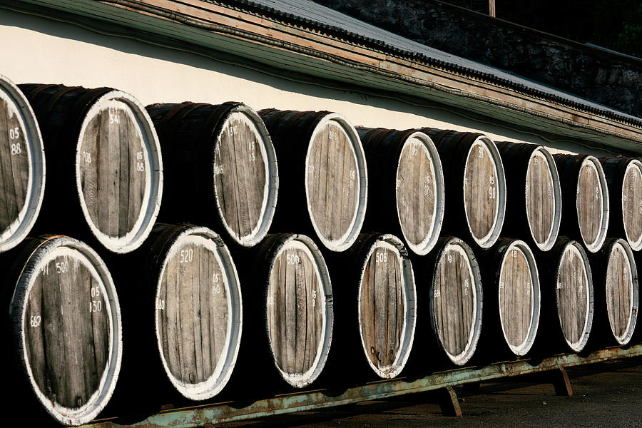 Barrels Of Wine On Platform Photograph by Win-initiative/neleman