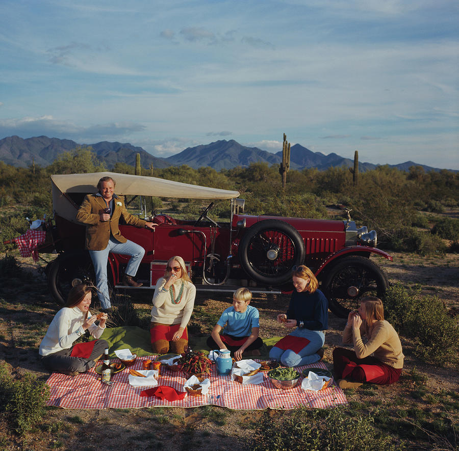 Barrett Family Picnic Photograph by Slim Aarons