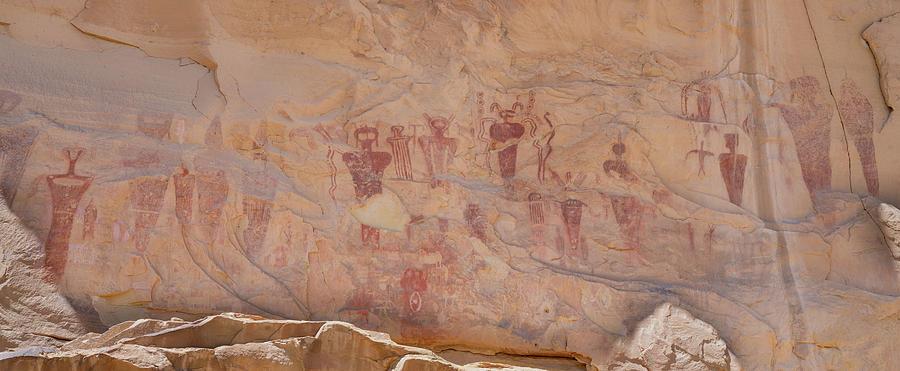 Barrier Canyon Rock Art at Sego Canyon by Kyle Lee