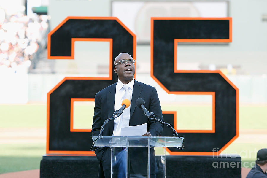 Barry Bonds San Francisco Giants Number Photograph by Lachlan Cunningham