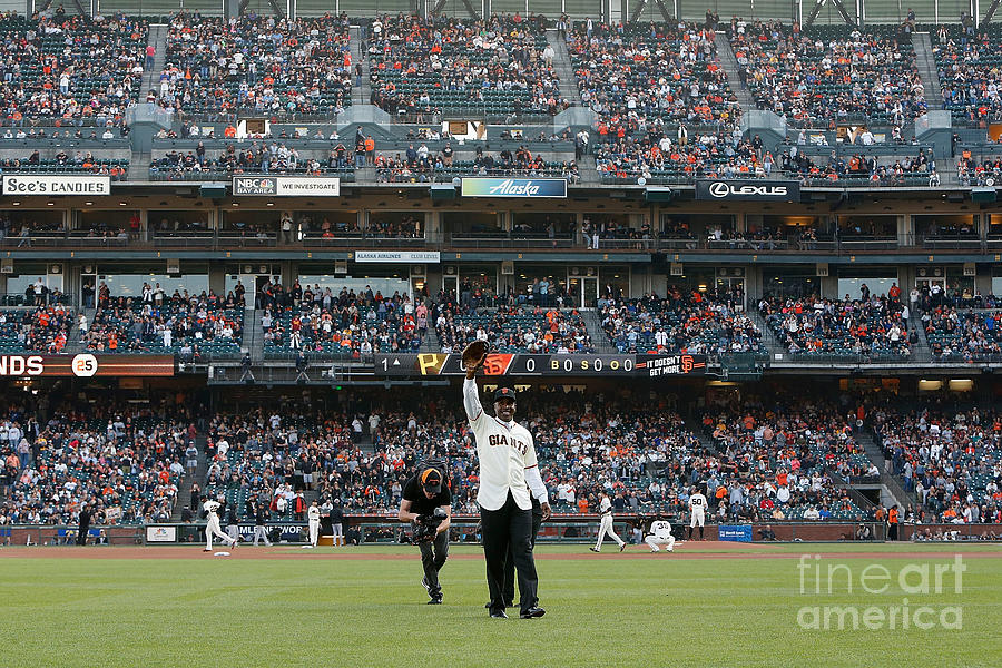 Barry Bonds San Francisco Giants Number Photograph by Pool