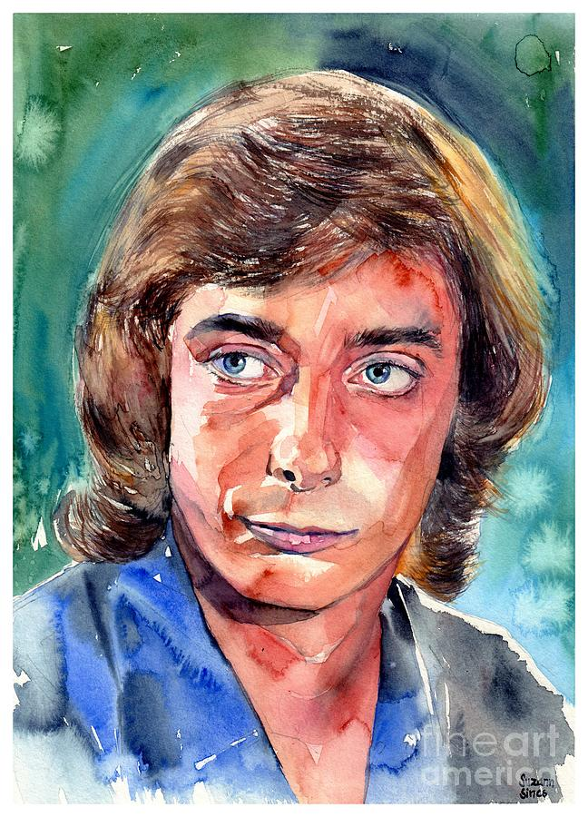 Barry Manilow Painting - Barry Manilow Portrait by Suzann Sines