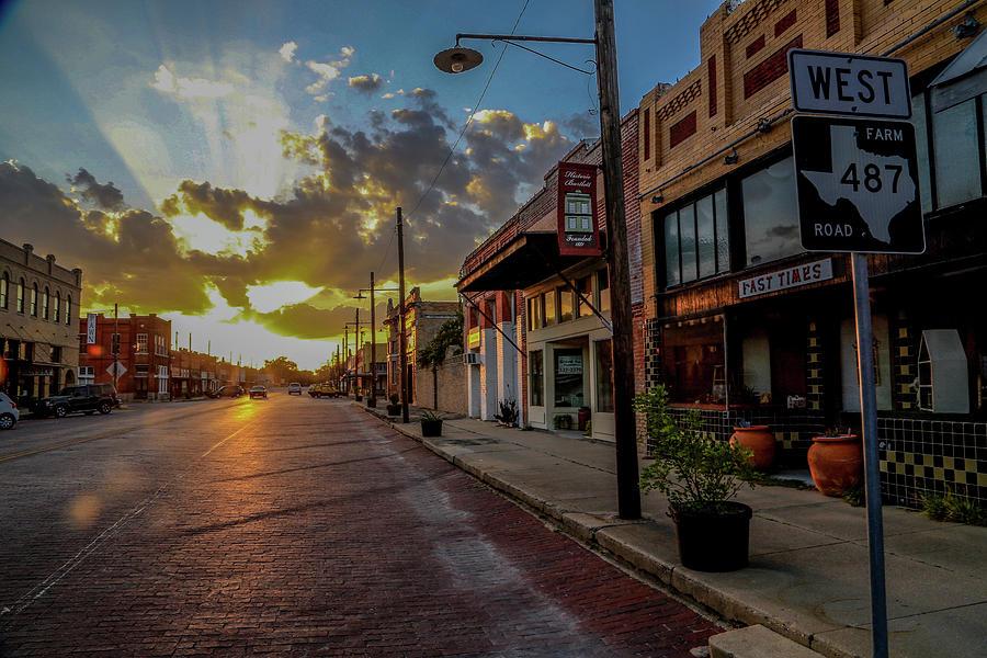 Texas Photograph - Bartlett Saturday Night by Michael Wayne Barnett