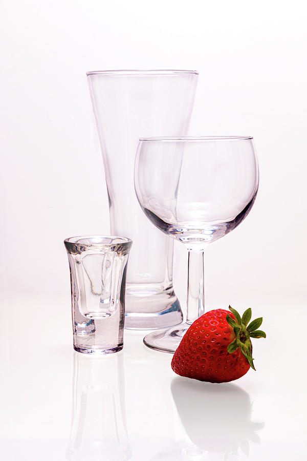 Barware and Strawberry by Tom Mc Nemar