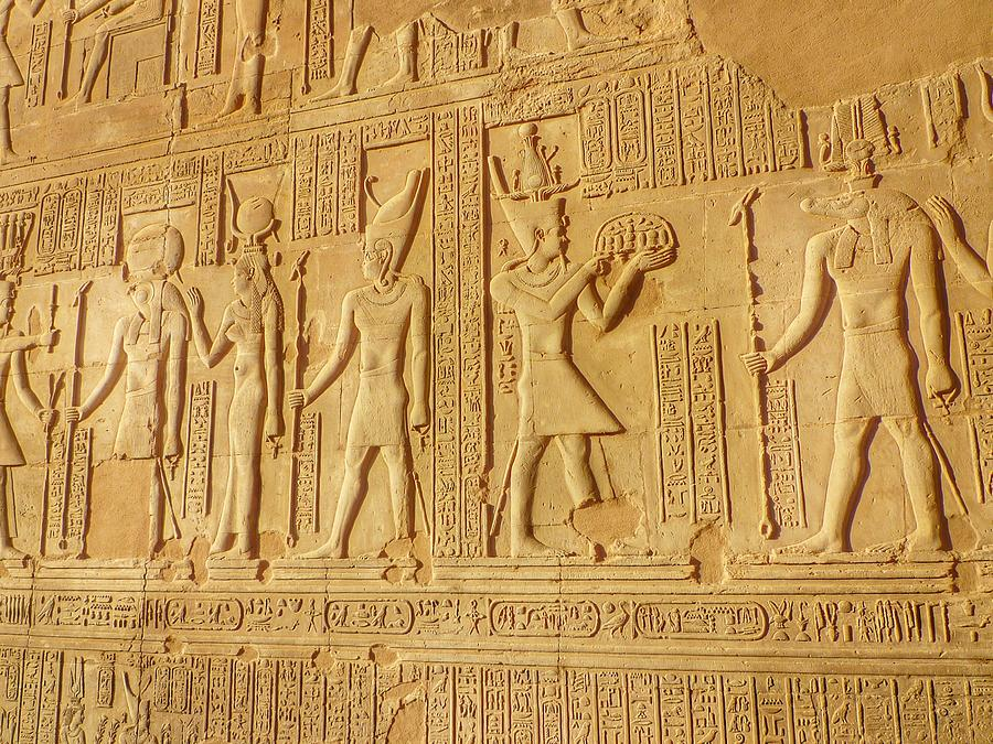 Bas Relief Figures And Hieroglyphics On Photograph by Fred Bahurlet / Eyeem