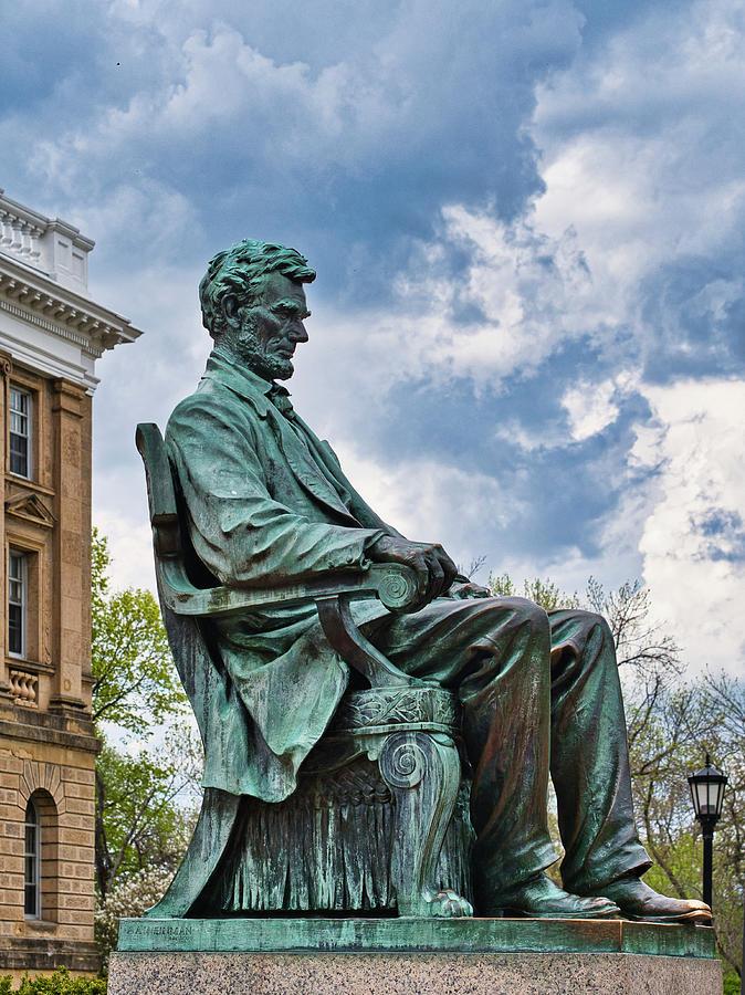 Bascom Hall Lincoln Statue by Steven Ralser