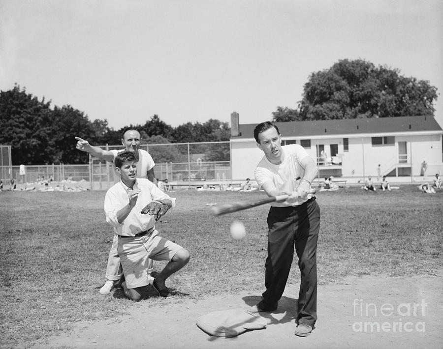 Baseball Actionwsenators Incl. Kennedy Photograph by Bettmann