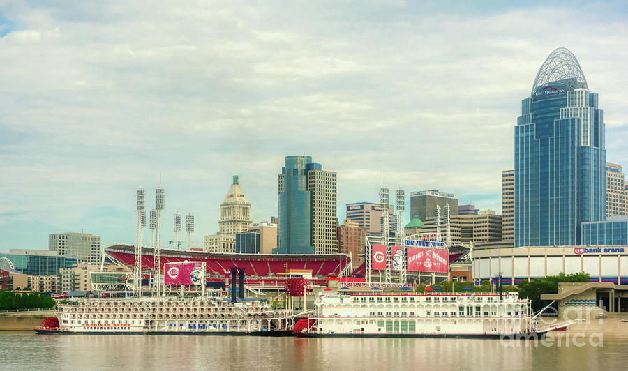 Baseball and Boats In Cincinnati # 2 by Mel Steinhauer