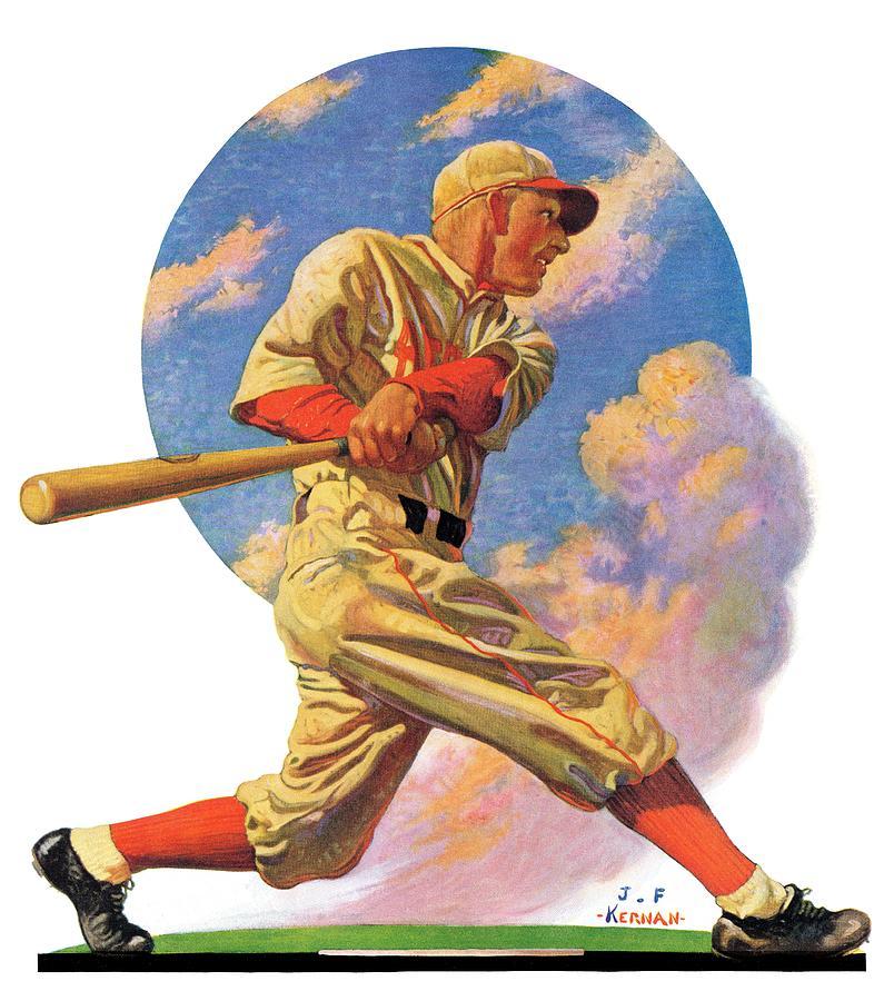 Baseball Drawing - Baseball Batter by J.f. Kernan