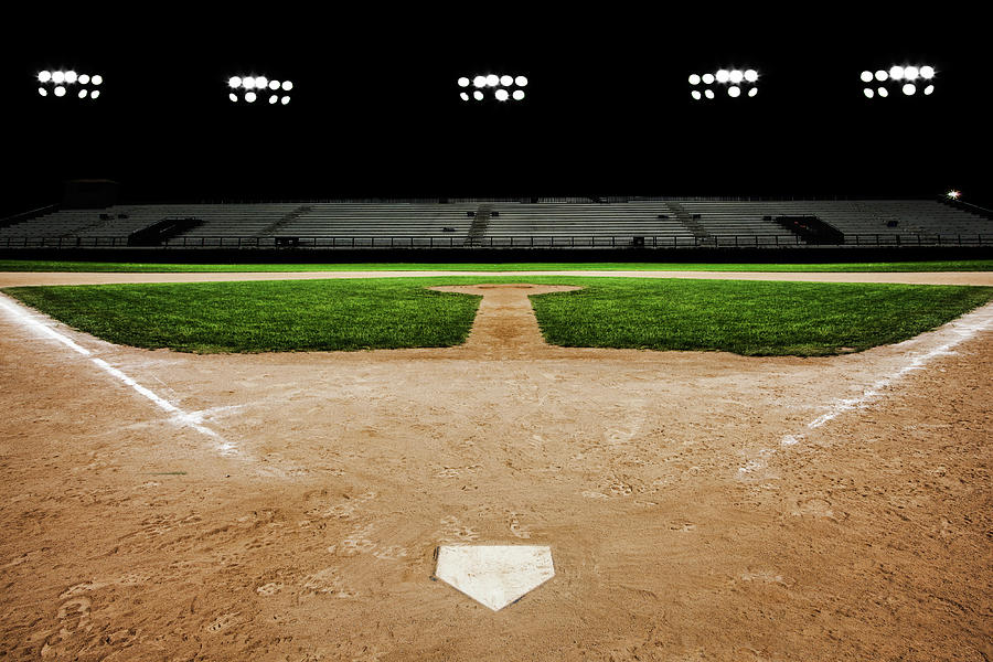 Baseball Diamond At Night Photograph by Jgareri