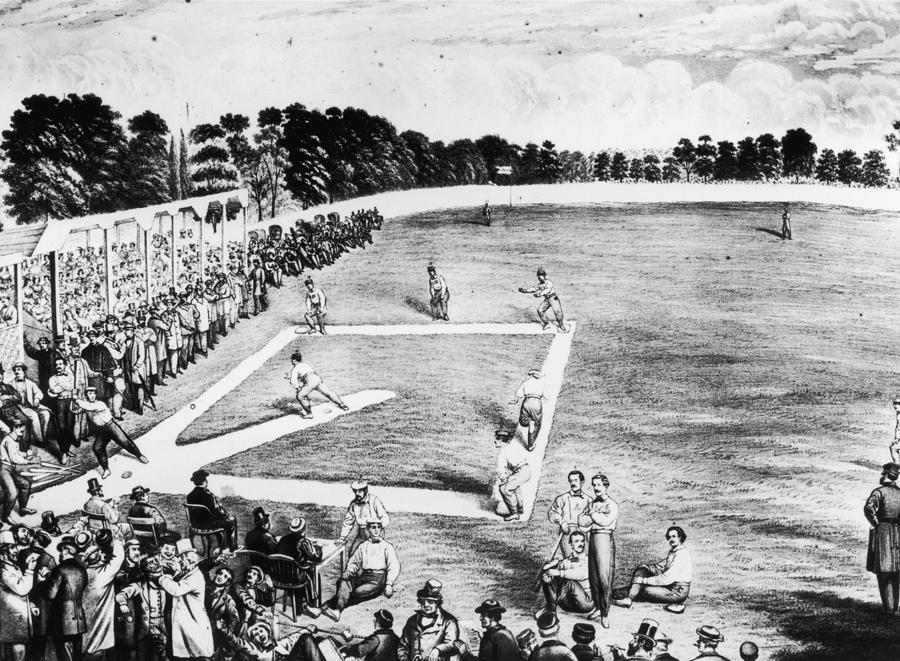 Baseball Game Photograph by Hulton Archive