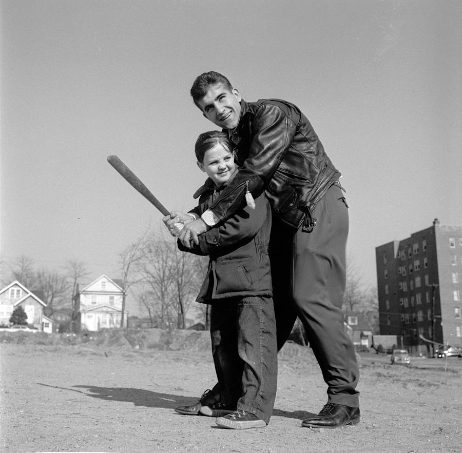 Baseball Lesson Photograph by Orlando