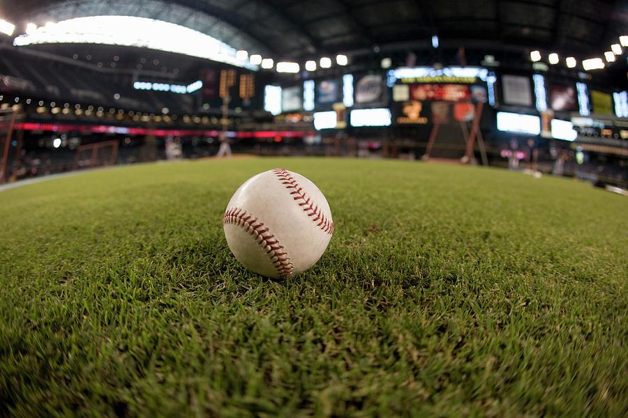 Baseball On Field Fish-eye Photograph by Jerry Driendl
