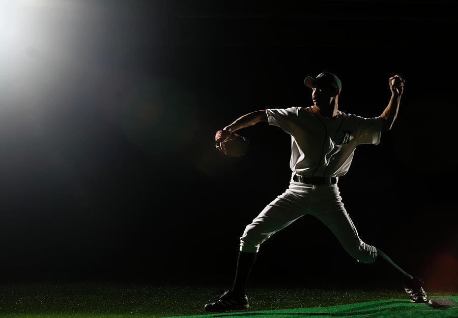 Baseball Pitcher Releasing Ball Photograph by Pm Images