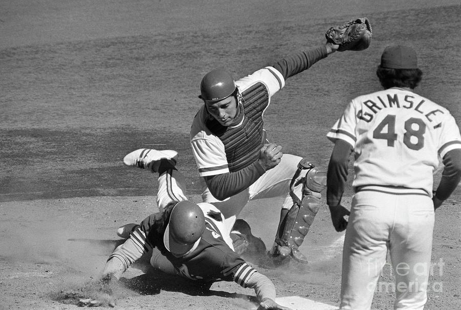 Baseball Player Dick Green Tagged Photograph by Bettmann