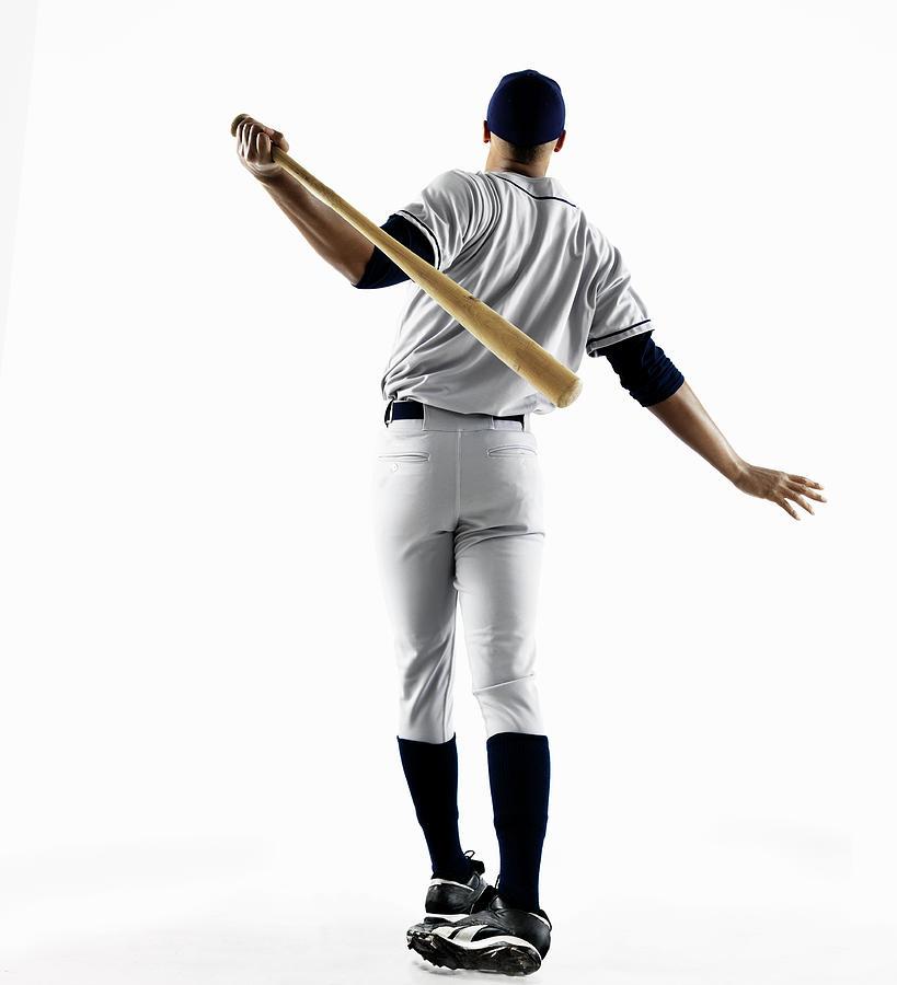 Baseball Player Hitting Home Run From Photograph by Patrik Giardino