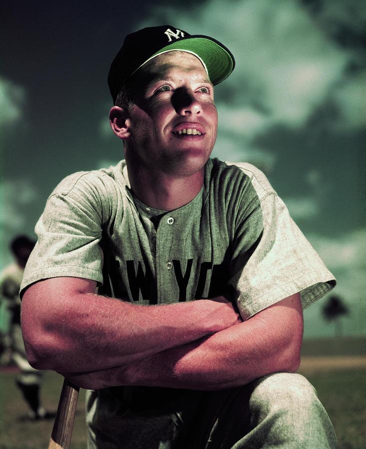 Baseball Player Mickey Mantle Photograph by Bettmann