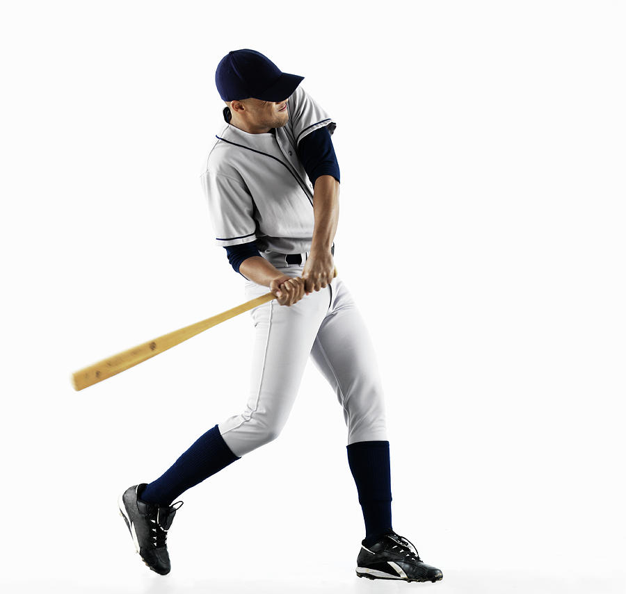 Baseball Player Swinging Bat Photograph by Patrik Giardino
