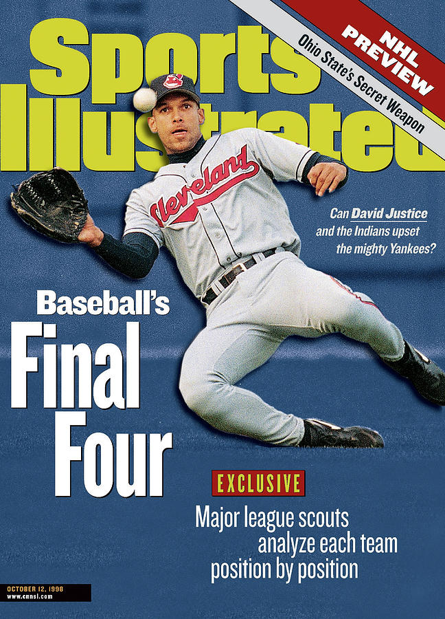 Baseballs Final Four Can David Justice And The Indians Sports Illustrated Cover Photograph by Sports Illustrated
