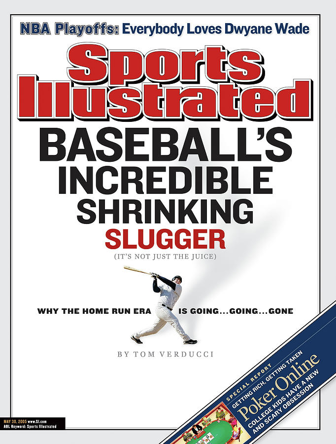 Baseballs Incredible Shrinking Slugger Its Not Just The Sports Illustrated Cover Photograph by Sports Illustrated