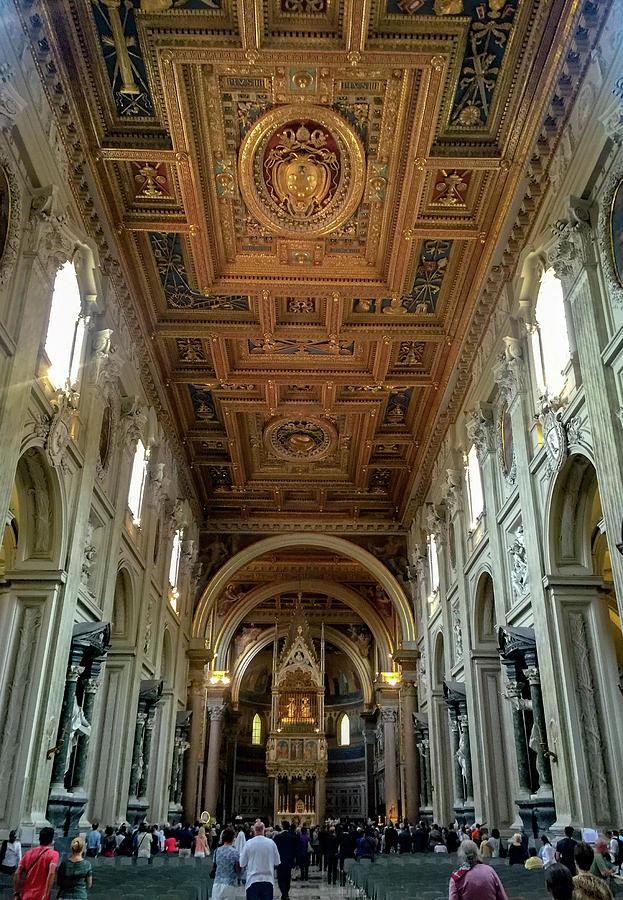 Archbasilica Of St. John Lateran Photograph - Basilica Di San Giovanni In Laterano by Joseph Yarbrough