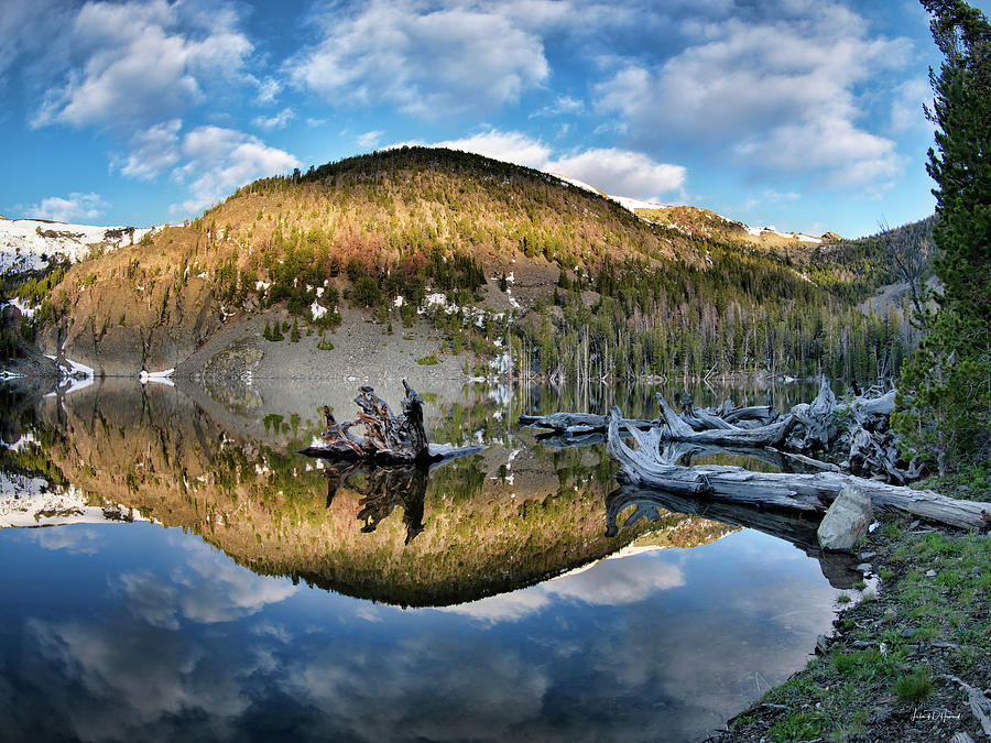 Altitude Photograph - Basin Lake Sunrise by Leland D Howard