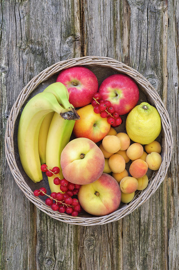 Basket Filled With Fruits, Close Up Photograph by Westend61