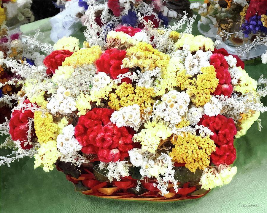 Basket of Dried Flowers by Susan Savad