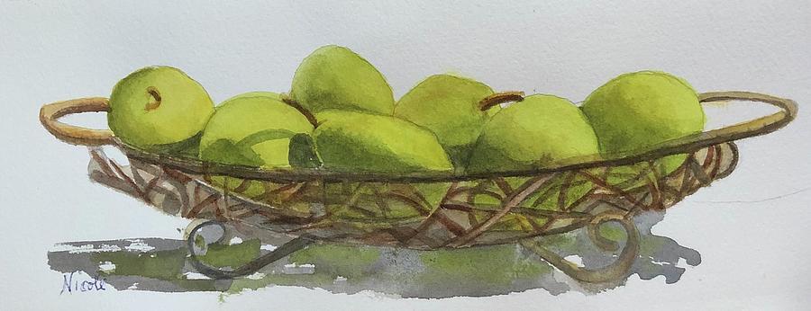 Basket Of Pears Painting