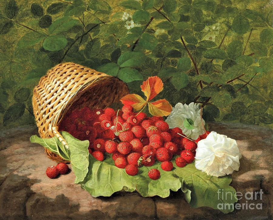 Basket Of Strawberries Painting