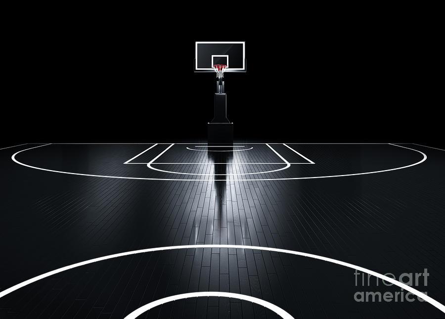 Venue Digital Art - Basketball Court. Photorealistic 3d by Serg Klyosov