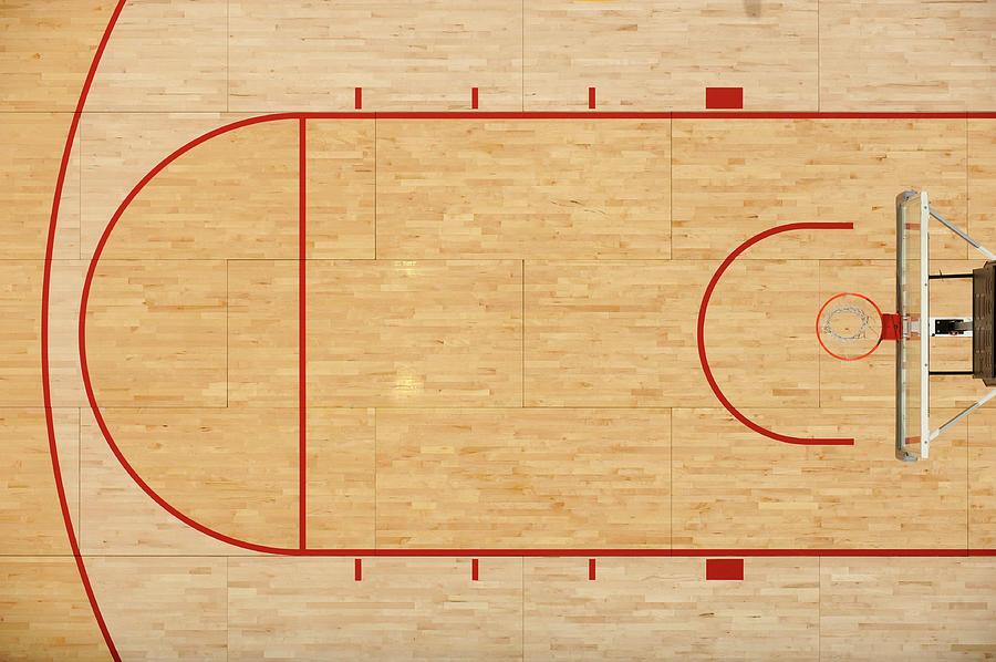 Basketball Floor Photograph by Matt brown