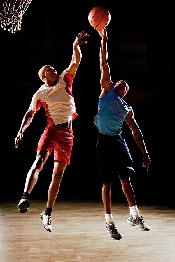Basketball Players Playing Basketball Photograph by Compassionate Eye Foundation/chris Newton