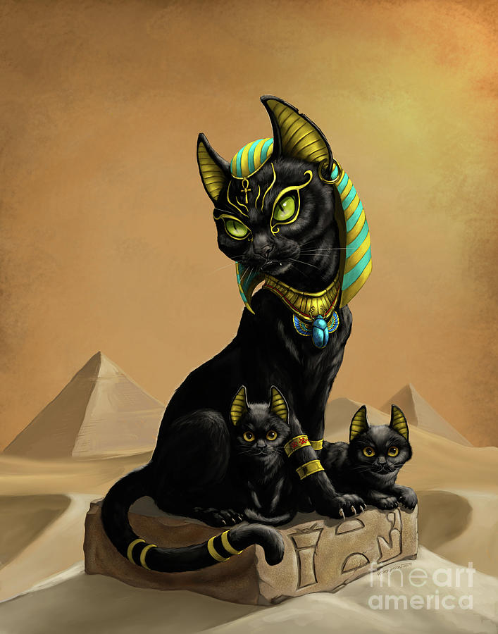 Bastet Egyptian God by Stanley Morrison
