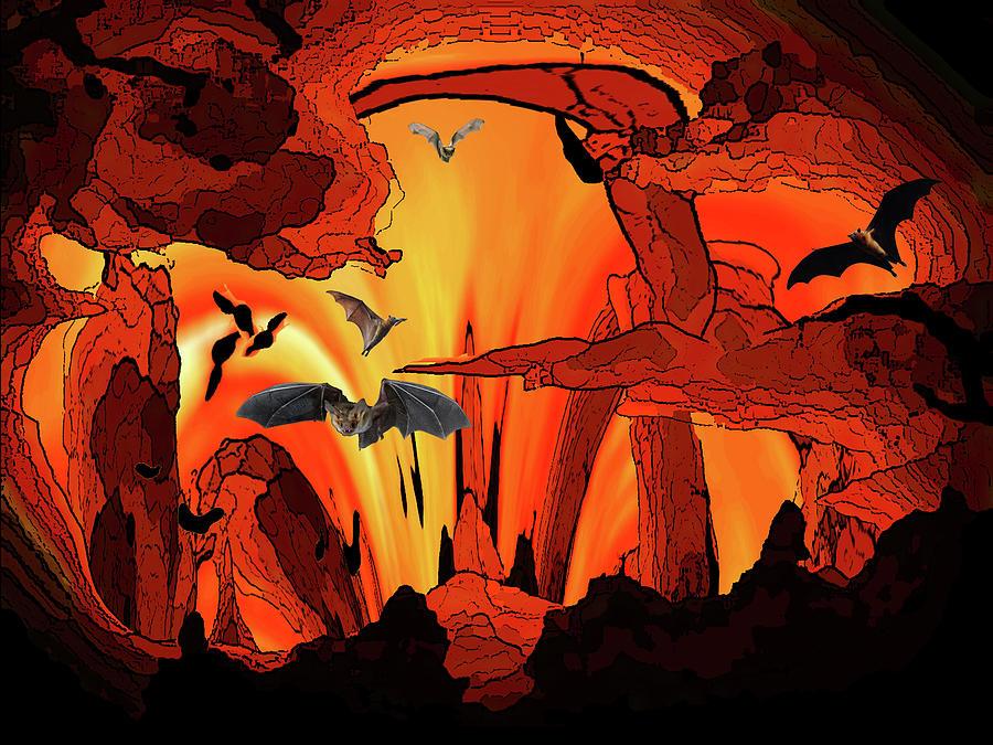 Bats Digital Art - Bat out of by Bruce IORIO