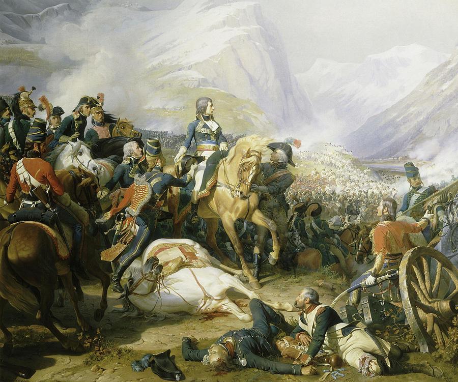 Battle Painting - Bataille De Rivoli, 1797 by Felix Philippoteaux