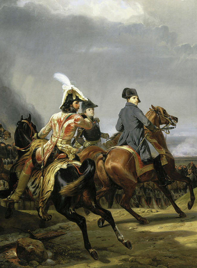 Horace Vernet Painting - Bataille Diena by Horace Vernet