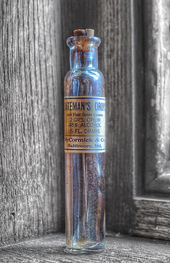 Antique McCormick and Co Baltimore MD Bateman's Drops Opium Bottle by Marianna Mills
