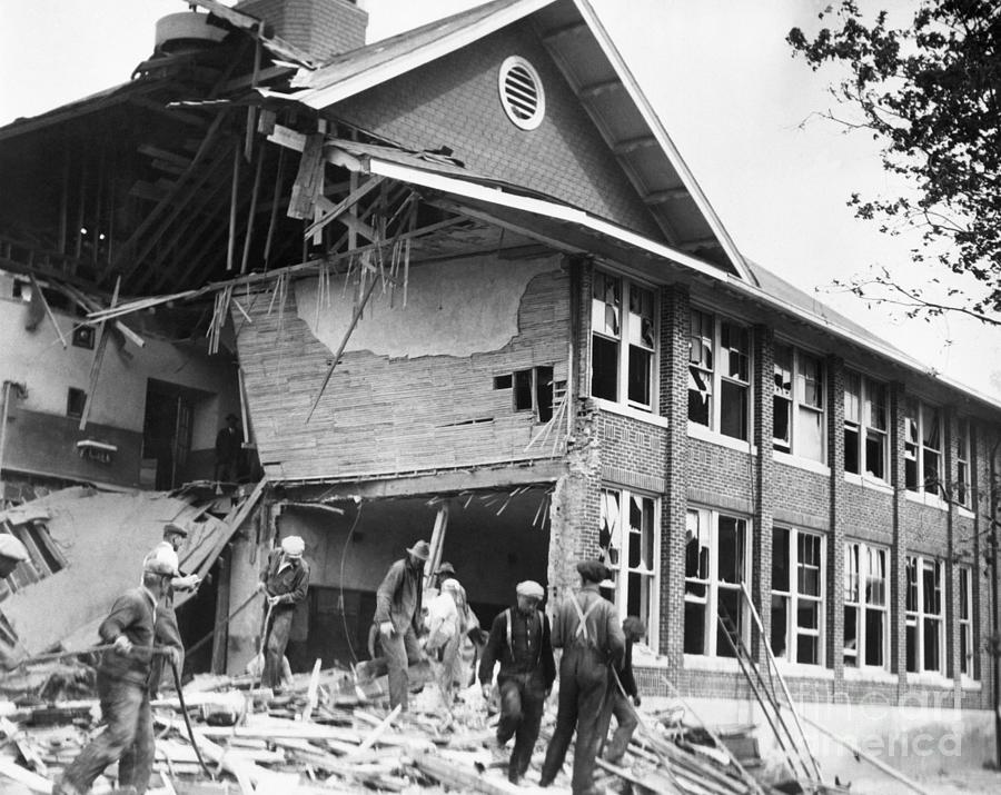 Bath Consolidated School After Explosion Photograph by Bettmann
