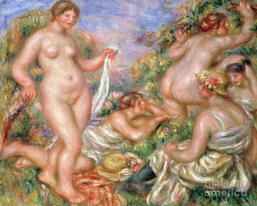Female Painting - Bathers, Circa 1918 by Pierre Auguste Renoir