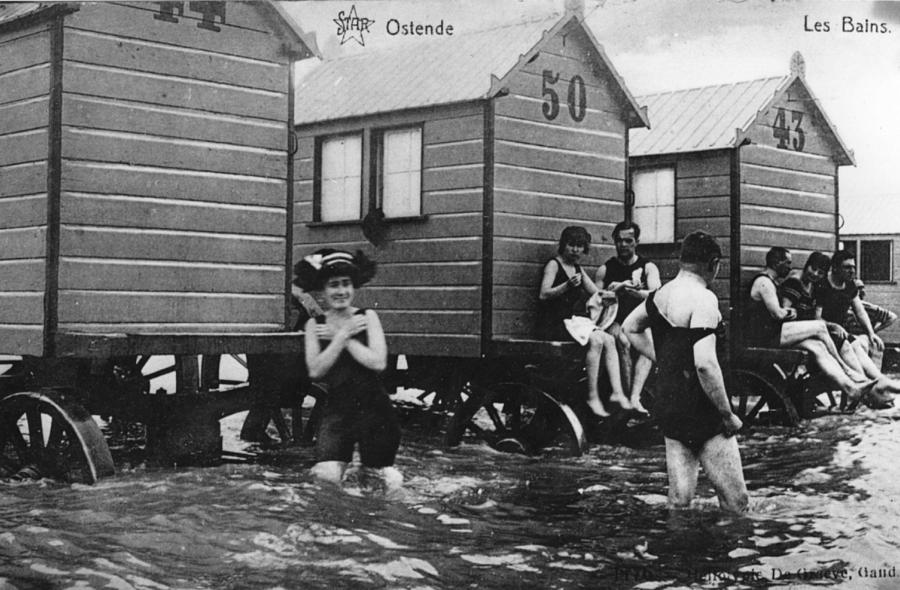 Bathing Belgians Photograph by Hulton Archive