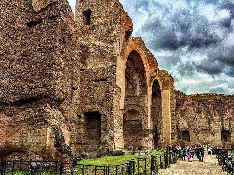 Baths Of Caracalla Photograph - Baths Of Caracalla by Joseph Yarbrough
