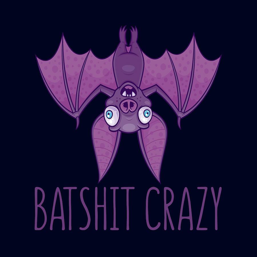 Batshit Crazy Wacky Cartoon Bat Digital Art