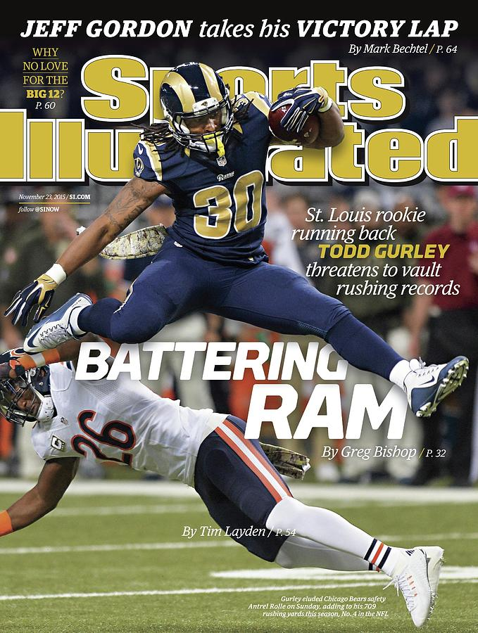 Battering Ram St. Louis Rookie Running Back Todd Gurley Sports Illustrated Cover Photograph by Sports Illustrated