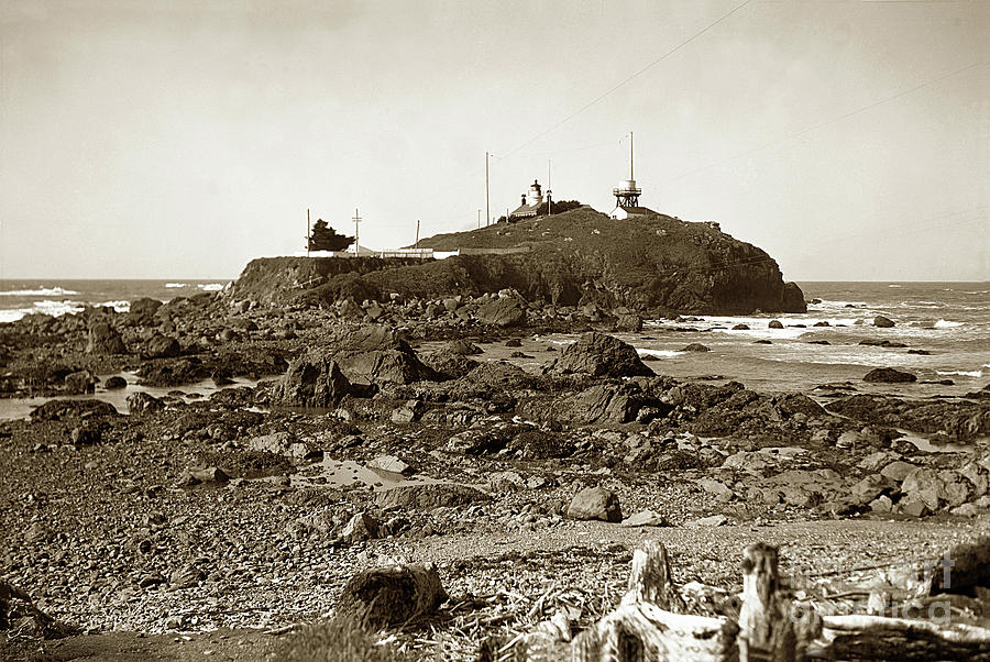 Battery Point Light, Crescent City   Del Norte County  Circa 193 by California Views Archives Mr Pat Hathaway Archives